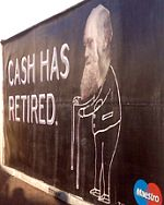 Cash has Retired billboard